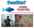 5 Sliding Pulley Pennel Rigs - Made in Britain. IDEAL IF YOU HOOK A BIG FISH