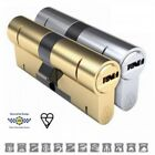 Yale - Keyed Alike Pair Millenco Magnum High Security Anti Snap Euro Cylinders