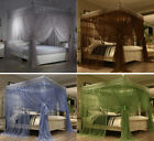 Princess Lace 4 Corner Post Bed Canopy Mosquito Netting Full Queen King Size image