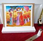 Listed Israeli artist, MOSHE LEIDER, ORIGINAL WATERCOLOR ON LIGHT CARD
