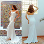 Ever-Pretty Long Spaghetti Strap Evening Dresses High Low Wedding Gowns 07232