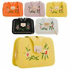 New Studs Detail Synthetic Leather Floral Embroidery Ladies Small Shoulder Bag