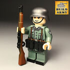 WW2 custom soldier officer minifigure British US infantry by Buildarmy(not Lego)