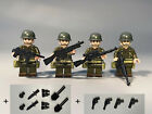 WW2 minifigure US Soviet British Axis soldier minifig MOC car +free Lego panel