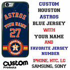 Custom Houston Astros Blue Baseball Jersey Phone Case Your Name & Jersy # Iphone