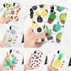 For iPhone Samsung S9 S7 Plus Cute Rubber Soft Silicone Pattern Clear Case Cover