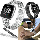 For Fitbit Versa Alloy Steel Watch Wrist Band Metal Bands Strap Cowboy Bracelet  image