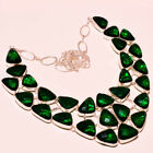 CHROME DIOPSIDE FACETED SUPERB MADGASCAR  GEMSTONE JEWELRY NECKLACE 18""
