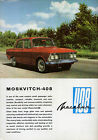 Moskvich 408 Saloon Mid 1960s Export Market Leaflet Sales Brochure In English