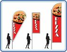 pizza flags , great for takeaways - pizza Flag & pole kit for outside your shops