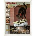 International Baking Powder Queen Chemical Co. Black Cat Ad Vintage Repro Poster