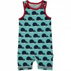 Maxomorra Playsuit Short Whale