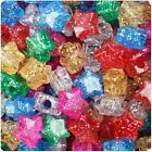 *3 for 2* 50/100 Mixed Sparkle Star Shape 13mm Highest Quality Pony Beads