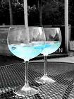 Colour Pop Gin Glasses Black and White Photographs (set of 3) 10x8
