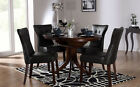 Dark Hudson & Bewley Round Extending Dining Table and 4 6 Chairs Set (Black)