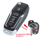 Upgraded Folding Remote Key 433MHz G for Autralian Toyota Highlander 2006-2011