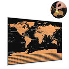 BIG Scratch Off World Map Poster with States and Country Flags 82 x 59CM
