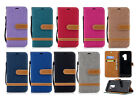 For Samsung S9 S8 S8 Edge Multicolor Flip Phone Case Full Cover with Card Clip