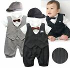 Baby Boy Wedding Christening Tuxedo Suit Outfit One Piece Clothes Formal Dress