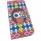 LG G3 G4 G5 Leather Cute Summer Pink Flower Flip Wallet Cover Case Stand Slot