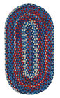 "Capel Rugs ""Harrison"" Durable Wool Country Home Braided Rug Patriotic 450"