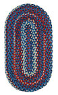 """Capel Rugs """"Harrison"""" Durable Wool Country Home Braided Rug Patriotic 450"""