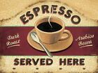 Espresso, Retro metal Sign/Plaque Wall vintage / Kitchen Gift / Coffee A4 A5 A6