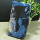 1x Cool Wolf Wallet Holder flip case cover for Various Mobile Phone