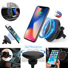 Qi Wireless Car Charger Charging Magnetic Mount Holder For iPhone X 8 Samsung S8