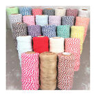 BUTCHERS - BAKERS CRAFT TWINE *25 COLOURS* CORD STRINGING PARCELS CANDY CANE