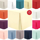 Luxury 100% Egyptian Cotton Percale Fitted Sheet Flat Sheet Base Valance Bedding