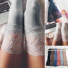 lace knitting - Women's Sheer Lace Knitting Thigh High Stockings Plus Size Over The Knee Socks