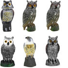 Rotating Head Owl Decoy Protection Repellent Bird Pest Scarer Scarecrow Garden