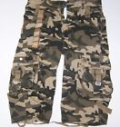 SHORTS ARMY INFANTRY DESERT CARGO VINTAGE CAMOUFLAGE 100% Cotton SIZES 30 to 44