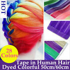 New 5pcs/lot 24inch Tape In Hair Extensions Remy Human Hair Glue in Extensions