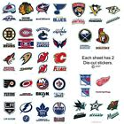 B5G5 FREE NHL Stickers Hockey Decal Logos Die Cut  2 Per Card 30 Teams Champions on eBay