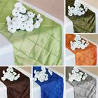 "10 PINTUCK TAFFETA 12x108"" Table RUNNERS Wedding Party Catering Decorations SALE"