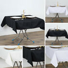 """12 pcs SQUARE 54"""" Premium Quality POLYESTER TABLECLOTHS Wedding Catering Kitchen"""
