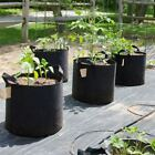Plant Grow Bag 5 Pack Garden Planting Fabric Pot Basket w/Handles 1-15 Gallons