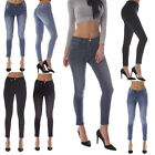 Womens Ladies Faded Slim Fit Skinny Jeans Jeggings / Leggings Denim Size 6 - 18