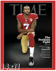 Colin Kaepernick 'The Perilous Fight' Time Magazine Cover Poster or Art Print