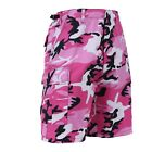 SHORTS BDU ARMY 6 POCKETS CARGO MILITARY CAMOUFLAGE PINK CAMO XS,S,M,L,XL,2X