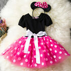 Girls Kids Minnie Mouse Tutu Dress Cosplay Party Birthday Fancy Costume Skirt