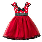 Minnie Mouse Costumes Toddler Kids Girls Birthday Party Tutu Dress Summer Skirt