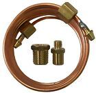 "Mechanical Oil Pressure Gauge 72"" Inch Copper Line Tubing Install Kit w/ Fitting"