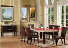 Espresso Contemporary Plush Dining Chairs for Kitchen Dining room Furniture