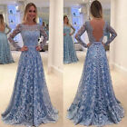 Women Elegant Formal Wedding Bridesmaid Dress Long Evening Party Ball Prom Gown