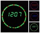LED Electronic Wall Clock Rotation Display Modern Digital Military Four Modes