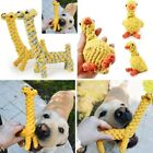 Dog Chew Toy Braided Rope Giraffe Pet Indestructible Teeth Dental Cleaning Toy