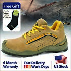 Safetoe Safety Shoes Mens Work Boots Steel Toe Breathable US Size 5 14 L 7296